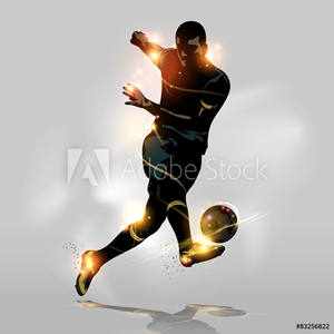 Picture of Abstract soccer quick shooting