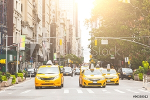 Picture of Typical yellow taxi in New York city