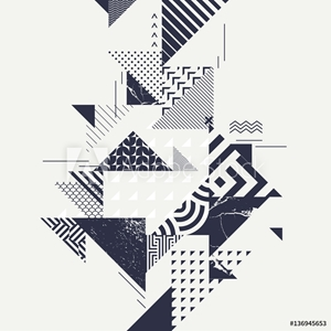 Picture of Abstract art background with geometric elements